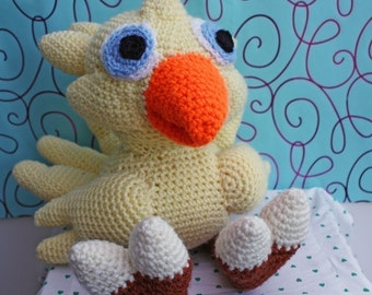 PATTERN - Crochet Chocobo - Free International Shipping