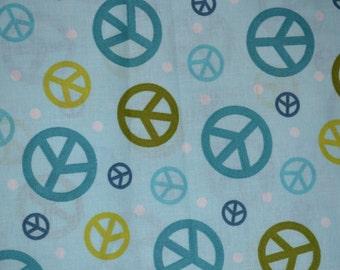Fabric Fat Quarters Peace Signs