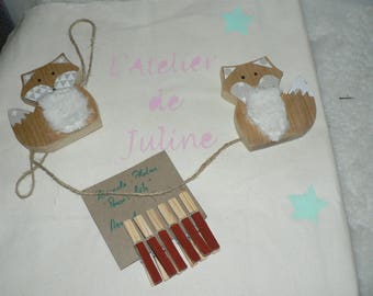 Door photos, messages, reminder Fox wooden grip