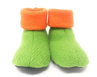 Waldorf Slipper Socks, Toddler Medium, Winter Booties, Size 3-5, Winter Shoes, Non Slip Bottoms, Machine Washable, Ready to Ship