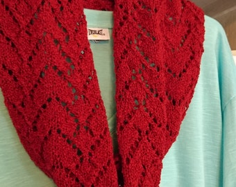 Queen of Hearts Cowl/Infinity Scarf Knitting Pattern