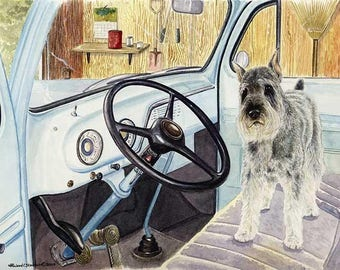 Let's Go A Limited Edition Schnauzer Print