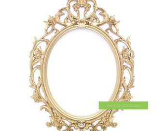 GOLD Ornate Oval Frame Baroque Picture Frame and Wedding and Photo Booth Signs