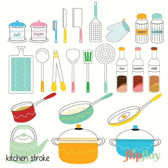 Kitchen Set Instan: Kitchen Set Instant Download