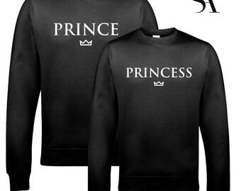 Prince and Princess Couples Tshirt Set - Free UK Shipping msJ150mBF