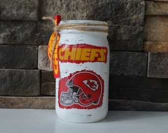 Chiefs Decorative Quart Size Mason Jar