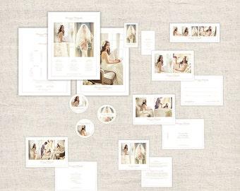 Set minimal photographie Marketing - mariage photographe Marketing, Photo marque paquet, modèles de Design Photoshop, téléchargement immédiat
