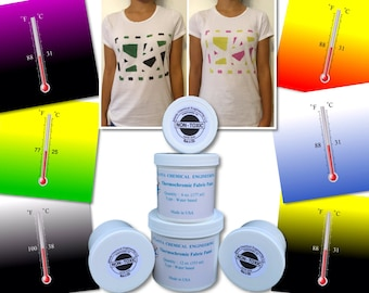 Color Changing Temperature Activated Heat Sensitive Thermochromic Fabric Paint by Atlanta Chemical