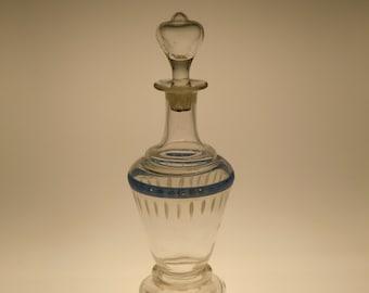 Bohemian Czech Art Nouveau Glass Carafe