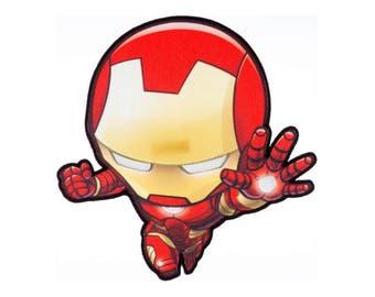 Iron Man Iron On Applique, Genuine Marvel Iron On Patch, Iron Man Patch, Iron Man Applique, Superhero Applique, Kids Patch
