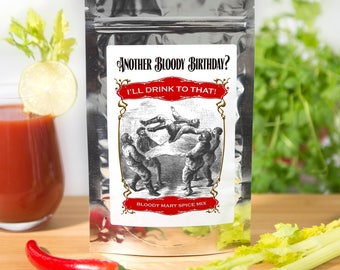 Bloody Mary Birthday Gift, Birthday Gifts, Gift For Him, Funny Birthday Gift, Gift For Her, Gift For Husband, Gift For Men, Cocktail Spices