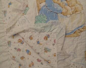 Vintage Beatrix Potter quilted blanket