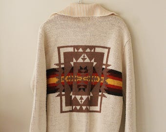 60's JC Penny Tribal Knit Pullover