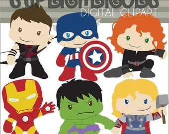 Superhero Clipart -Personal and Limited Commercial Use- Super Heroes Clip art