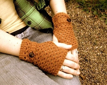 Fingerless Mitts KNITTING PATTERN -  Grandpa Mitts
