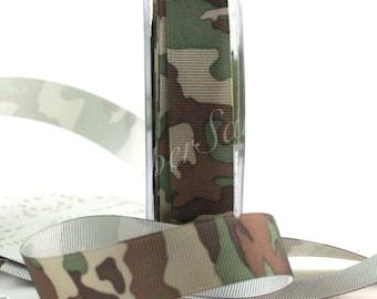 Camouflage Ribbon, Camo Ribbon, 3/4 inch wide