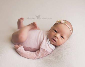 NEWBORN HEADBAND {Katie}Newborn Photo Prop - Newborn Tieback - Newborn Headbands - Photography Props - Newborn Flower Crown - Photo Props