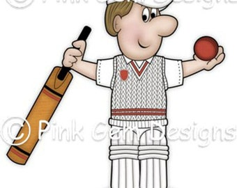 Digi Stamp Cricket Dave. Male  Birthdays. Fathers Day