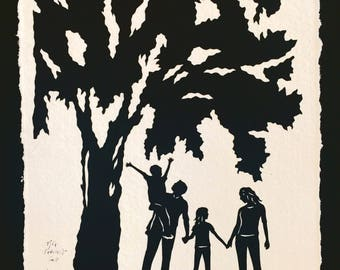 ANOTHER DAY in the PARK Papercut - Hand-Cut Silhouette