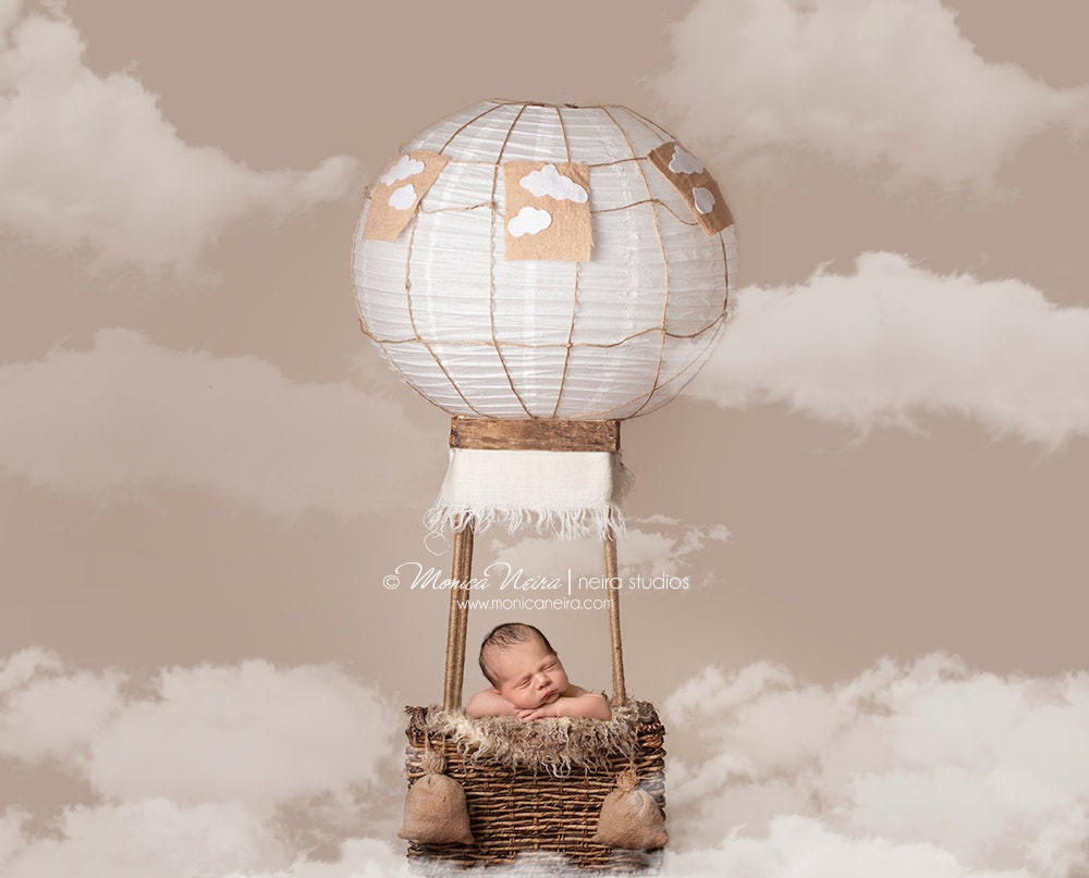 Digital Backdrops Props Newborn Hot Air Balloon Prop With