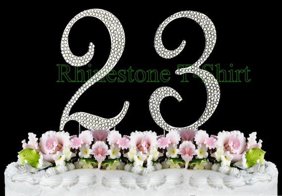 New large rhinestone number 23 cake topper 23th birthday like this item thecheapjerseys Images