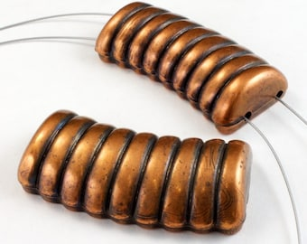 40mm Curved Copper Bead #2740