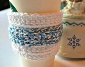 Crochet Coffee Cup Cozy, Food and Drink Cozy, Coffe and Tea Cozy, Coffee Cozy, Home and Living Cozy, Reusable EcoFriendly Cozy