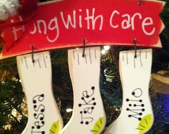 Stocking Personalized Christmas Ornament