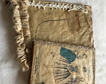 45 piece Vintage Junk Journal Sewing kit