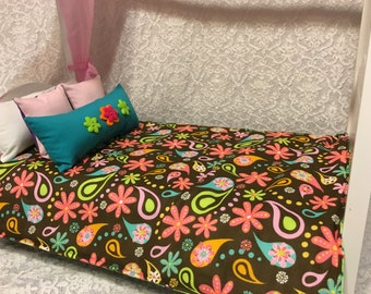 """Doll Quilt, American Girl Doll Quilt, 18"""" Doll Quilt, Reversible Doll Quilt, Doll Bedding, Doll Pillow, Quilt, Doll, American Girl, AG Doll"""
