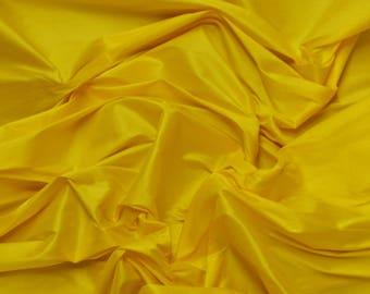 "55"" Wide - YELLOW Premium Faux Silk Fabric - Shantung Dupioni Faux Silk Fabric - By the Yard"