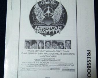 "Complete Pressbook for the 1979 Motion Picture ""More American Graffiti""."