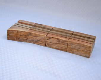 Business Card Holders, live edge, set of four