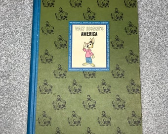 Vintage  1965 Walt Disneys America  Hardcover Book