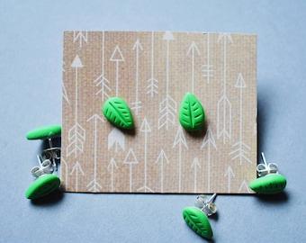 Leaf Stud Earrings (Nickle Free)