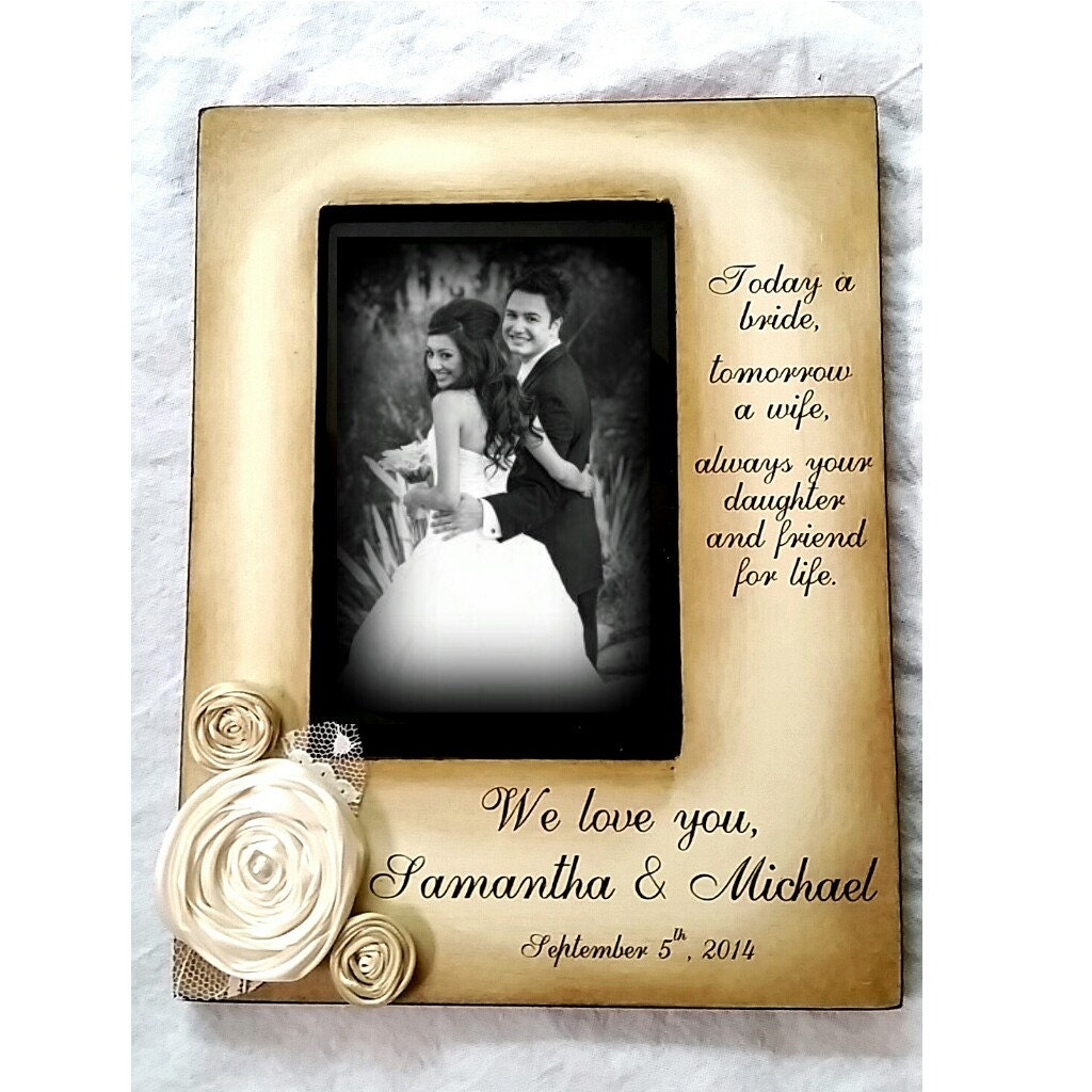 Madre hija boda novia recuerdo personalizar cuadro marco 4 x 6 hoy ...