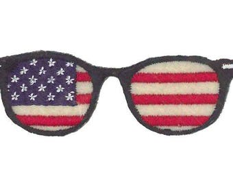 patch Thermo glasses flag USA