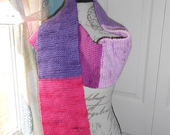 Violet Vision knit scarf 60 inches long