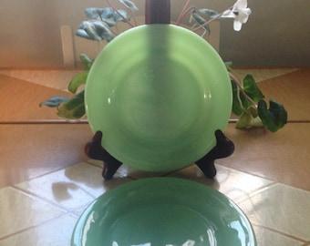 """Fire King Jadeite Restaurant Ware Dessert or Salad Plates 6.75"""""""