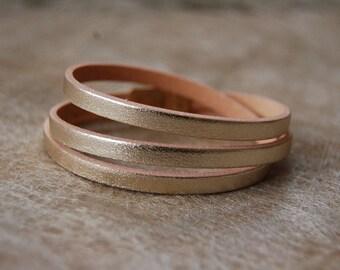 Stylish leather wrap bracelet