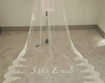 Wedding Veil  with Lace and appliques
