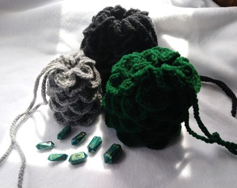 Dragon's Egg Crocheted Dice Bag - Large
