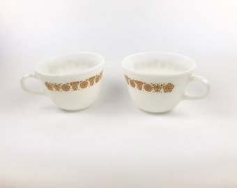 Pyrex Butterfly Cups