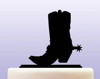 Acrylic Cowboy Boots Cake Topper