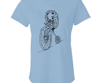 HEDGEHOG On A PENNY-FARTHING - Ladies Babydoll T-shirt