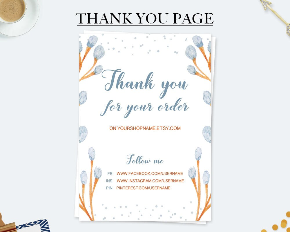 Thank you for your purchase business card thank you note