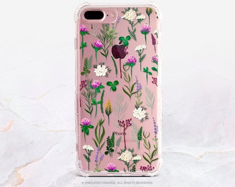 iPhone 8 Case iPhone X Case iPhone 7 Case Clover Field Clear GRIP Rubber Case iPhone 7 Plus Clear Case iPhone SE Case Samsung S8 Case B4