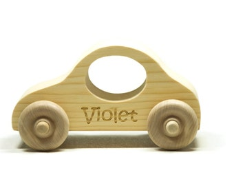 Wooden Toy Car - Personalized