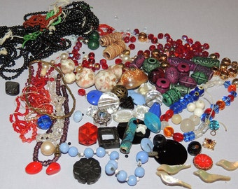 Vintage Beads and Findings for Re Purposing