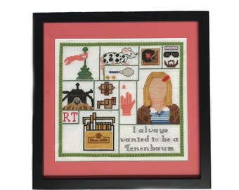 Royal Tenenbaums Sampler Cross Stitch